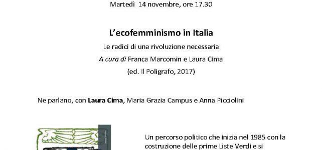 "L'ecofemminismo in Italia <span class=""dashicons dashicons-calendar""></span>"