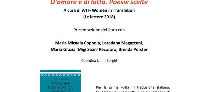 "Audre Lorde. D'amore e di lotta. Poesie scelte <span class=""dashicons dashicons-calendar""></span>"