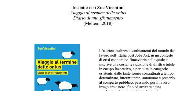 """Incontro con Zoe Vicentini <span class=""""dashicons dashicons-calendar""""></span>"""