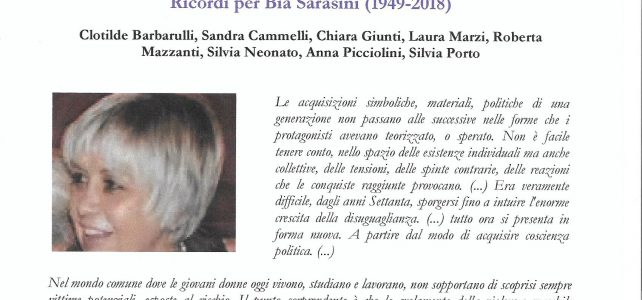 """Appassionate relazioni-Ricordi per Bia Sarasini <span class=""""dashicons dashicons-calendar""""></span>"""