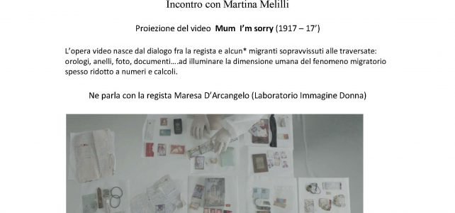 """Incontro con Martina Melilli <span class=""""dashicons dashicons-calendar""""></span>"""