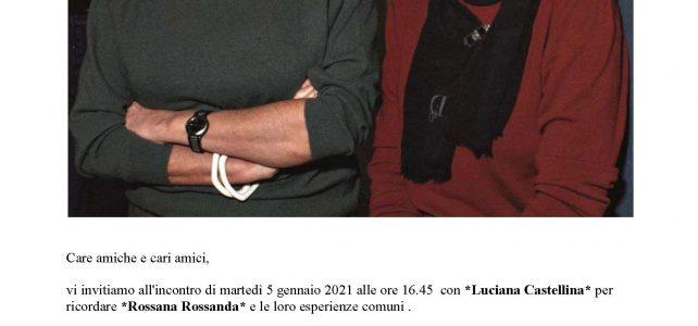 """Luciana Castellina per ricordare Rossana Rossanda <span class=""""dashicons dashicons-calendar""""></span>"""