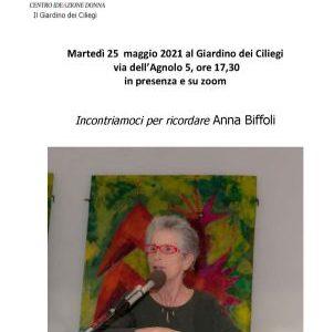 """Incontramioci per ricordare Anna Biffoli <span class=""""dashicons dashicons-calendar""""></span>"""